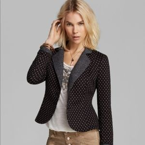Free People Diamond Textured Knit Blazer Jacket L